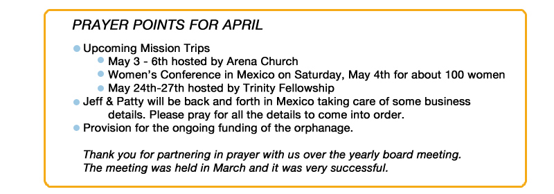 Prayer Points April 2013